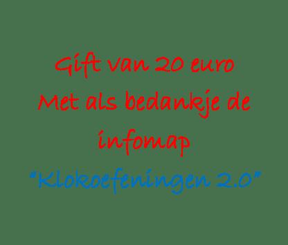 Gift €20 infomap klok