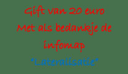 Gift €20 met infomap LAT