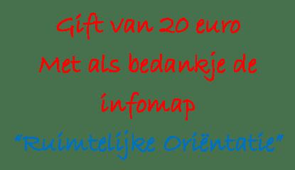 Gift €20 met infomap RO