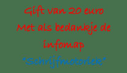 Gift €20 met infomap S