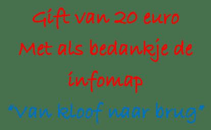 Gift €20 met infomap K-B