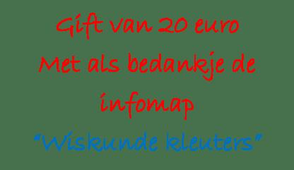 Gift €20 met infomap WK