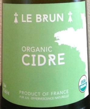 Organic Raw Hard Cider Le Brun - Plovan, Brittany