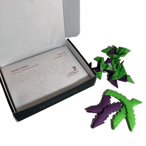 صندوق ورقامي للأوريجامي ثلاثي الأبعاد