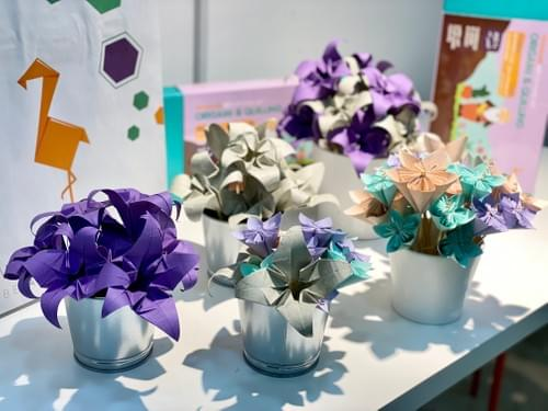 Origami Flowers Pots- small