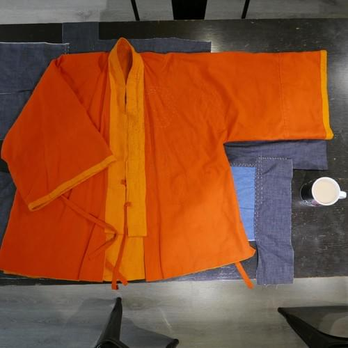 Happi coat/Kung Fu Style Reversible Jacket Workshop