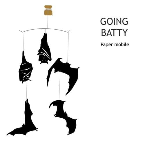 Going Batty Paper Mobile