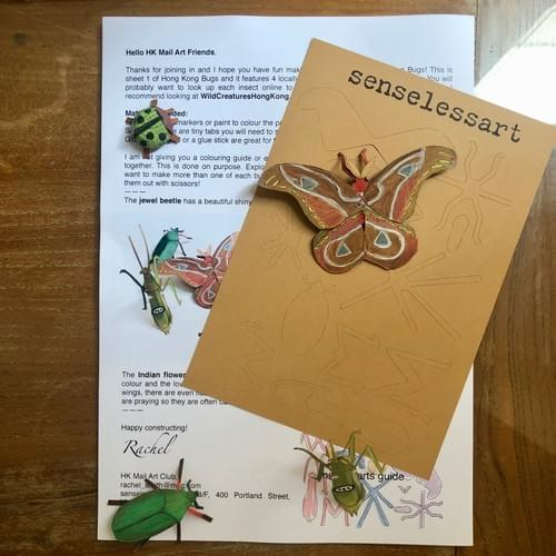 HK Mail Art Club - Bugs/Insects - 4 weeks subscription