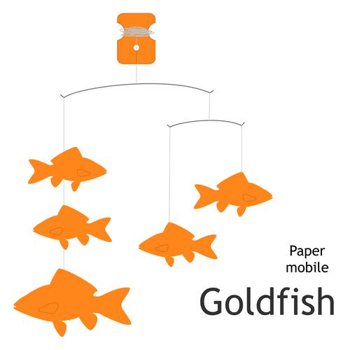 Goldfish Paper Mobile