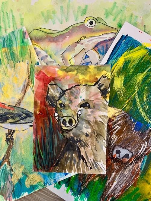 Mixed Media Painting Class - Fridays 1 - 2:30pm