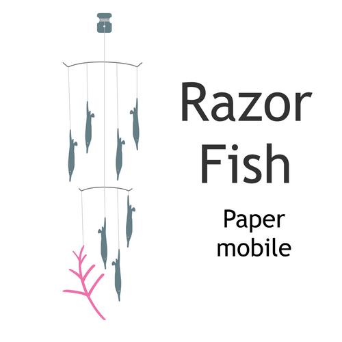Razor Fish Paper Mobile