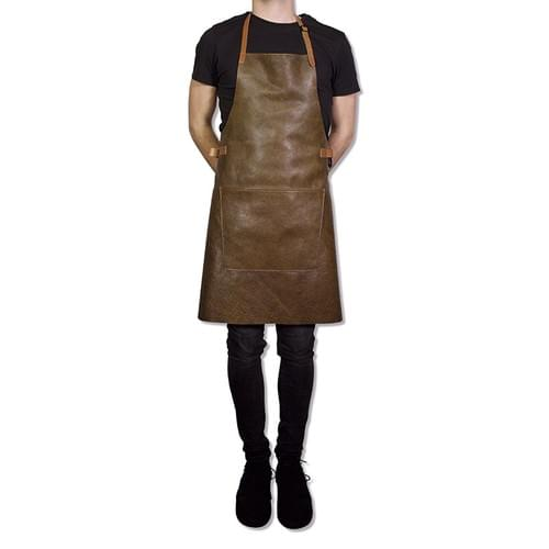 Tablier Dutchdeluxes BBQ STYLE - CUIR - VINTAGE BROWN