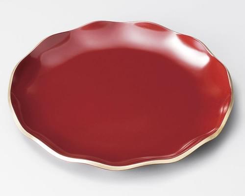 フリルプレート 赤 (L,M,S)