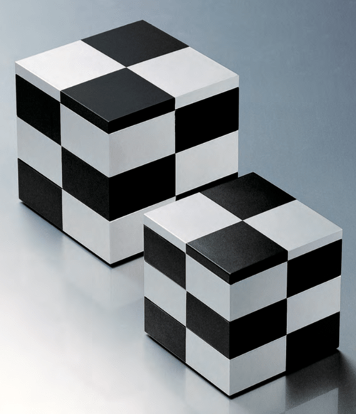重箱  黒銀