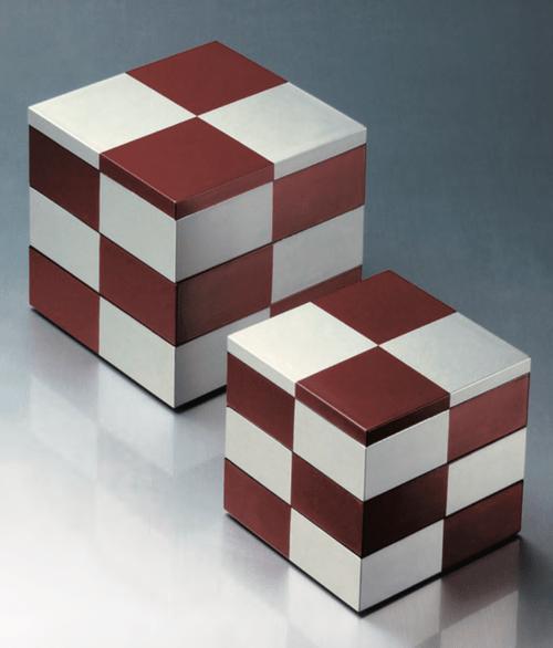 重箱  赤銀