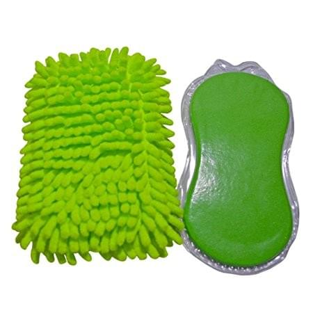 Car Cleaning Sponge - Car Wash Expanding Sponge, Premium Chenille Microfiber Duster Cleaning Sponge