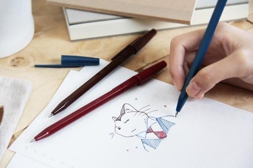 【SKB文明鋼筆】復古潮 秘書復古中性筆 (3入2款)