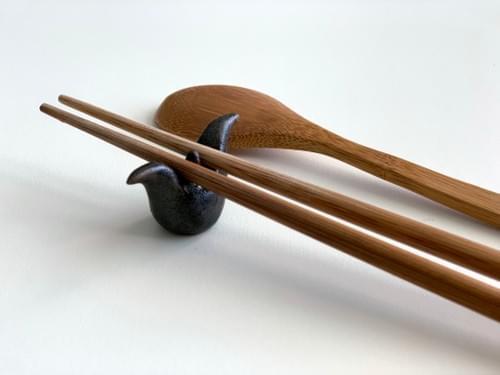 官田烏金菱炭筷架