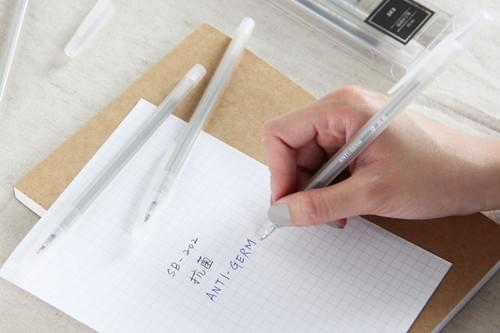 【SKB文明鋼筆】抗菌秘書原子筆5入(藍芯)