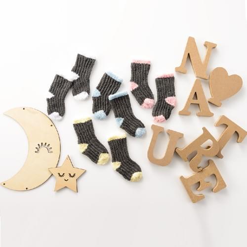 [淨地球]棉花糖絨嬰兒襪