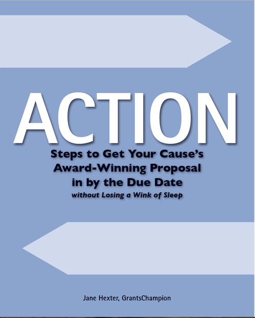 Action Steps to Get Your Cause's Award-Winning Proposal in by the Due Date