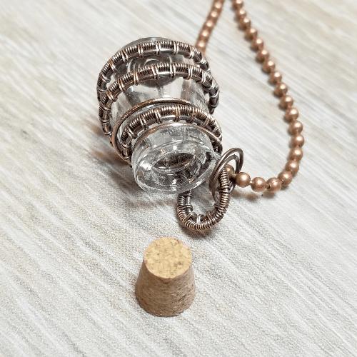 Memory Bottle, Keepsake Gift, Pet Memorial Jewelry