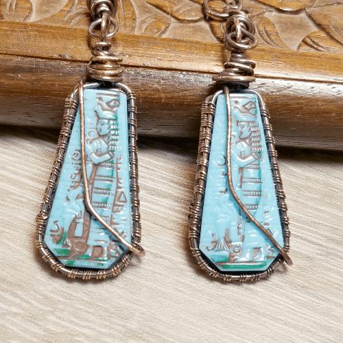 Vintage Egyptian earrings, Egypt jewelry,  Eye of Ra Jewelry