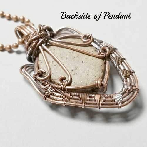 Face Pendant, Tribal Jewelry, Wire Wrap Necklace