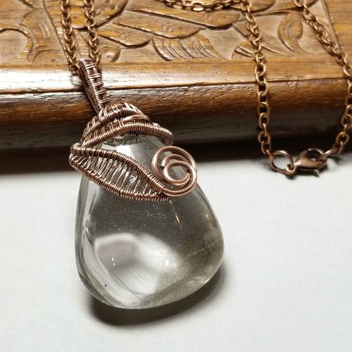 Lodolite Necklace, Lodolite Quartz Gemstone Jewelry