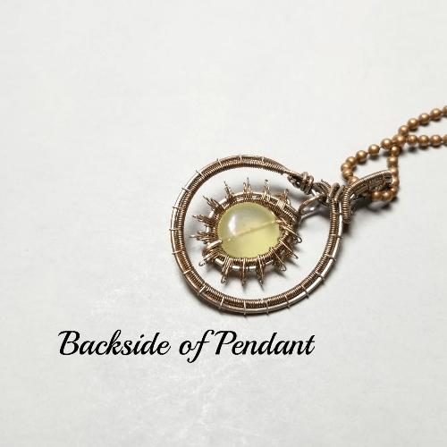Wire Wrapped Sunburst Necklace, Gemstone Sun Pendant