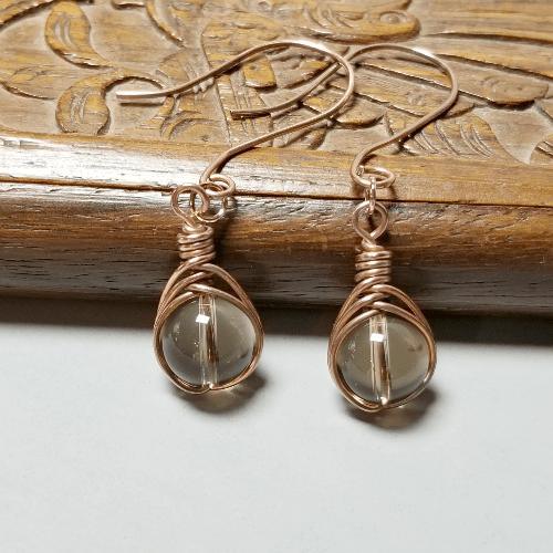 Smoky Quartz Drop Earrings, Quartz Jewelry