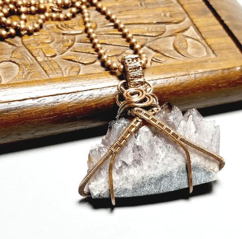 Amethyst Slice Necklace, Geode Necklace, Raw Stone Jewelry, Raw Druzy Stone