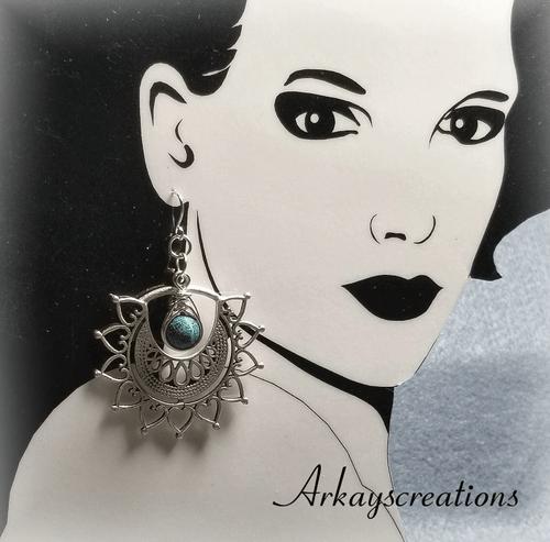 Tribal Boho Earrings, Bohemian Gypsy Jewelry