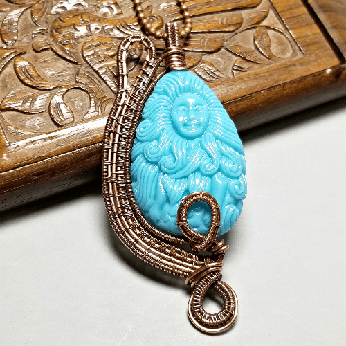 Wire Wrapped Mermaid Necklace, Beach Style Jewelry, Unique Mermaid Pendant