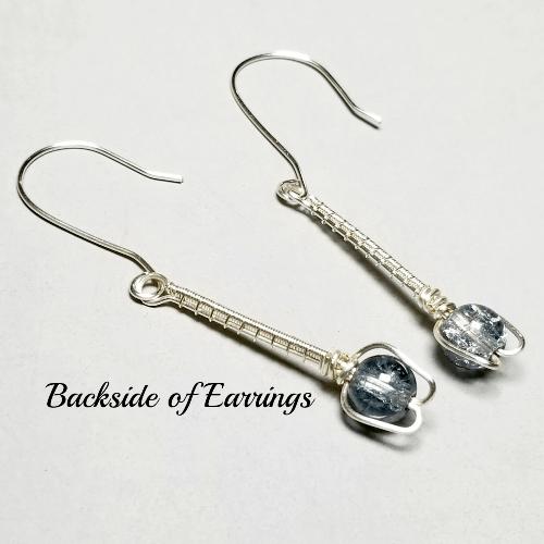 Silver Wire Wrapped Flower Earrings, Minimalist Inspired Earrings