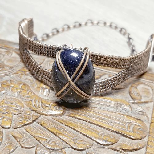 Wire Wrapped Bangle, Wire Woven Bracelet, Copper Bracelet