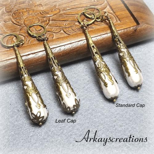 Long Teardrop Earrings, White Bridal Jewelry #970873