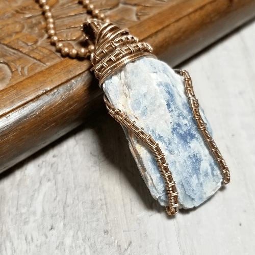 Raw Kyanite Pendant, Kyanite Jewellery, Healing Stone