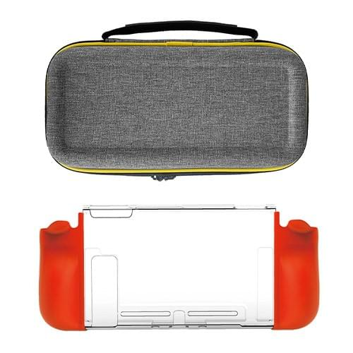YESOJO Canvas Protective Carrying Case and clear shell combo