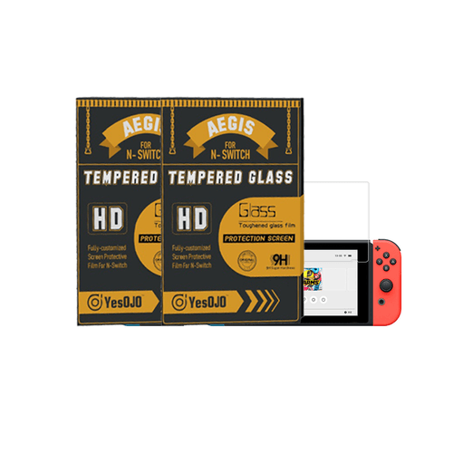 YESOJO NS AGEIS HD Tempered Glass Protector, 2 Packs