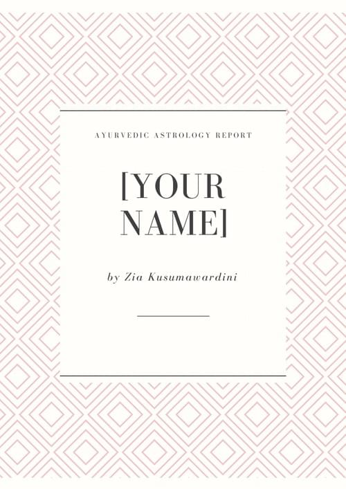 Ayurvedic Astrology Report (40+ pages!)