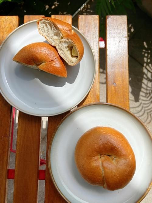 紅烏龍茶乳酪貝果