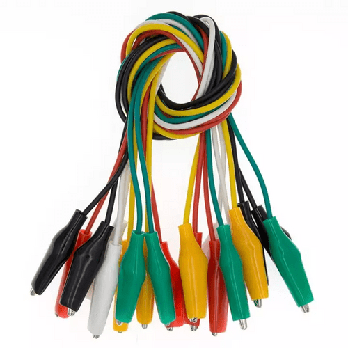 10pcs 50cm Double-ended Crocodile Clips Jumper Wire