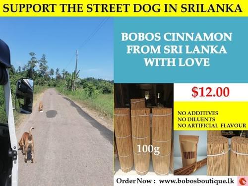 BoBo's Cinnamon sticks 100g - Support The Street Dogs in Sri Lanka