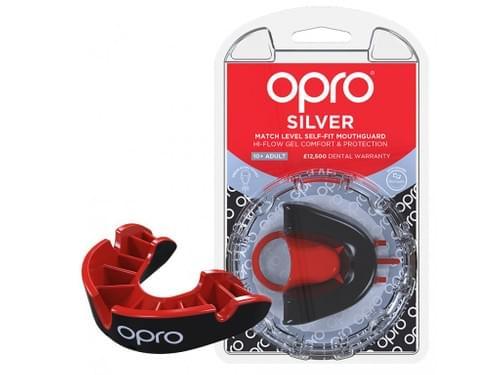 Chránič zubů OPRO Silver Black/Red