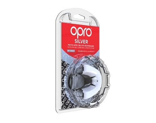 Chránič zubů OPRO Silver white black