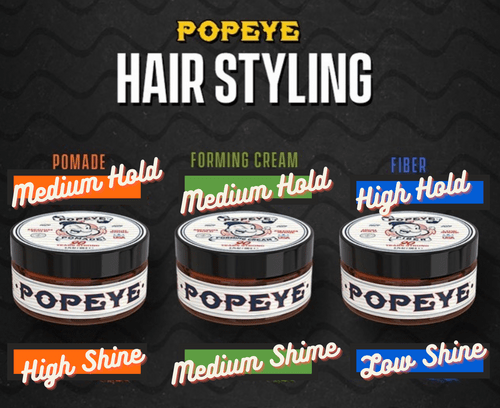 POPEYE Hair Styling Product Trio