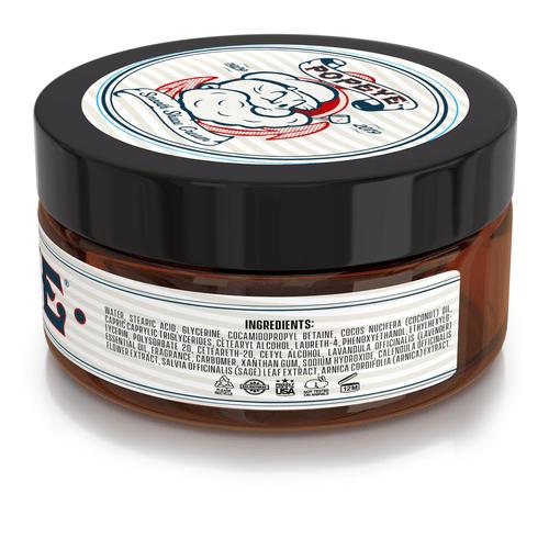 POPEYE Shave Cream - 8oz - Non Lathering Formula