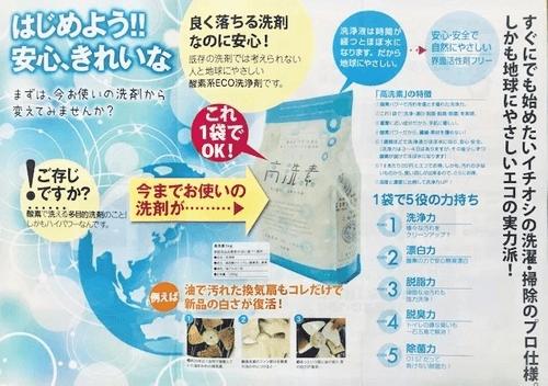 酸素で洗うハイパワー エコ洗浄剤  高洗素(ハイセンス)1kg