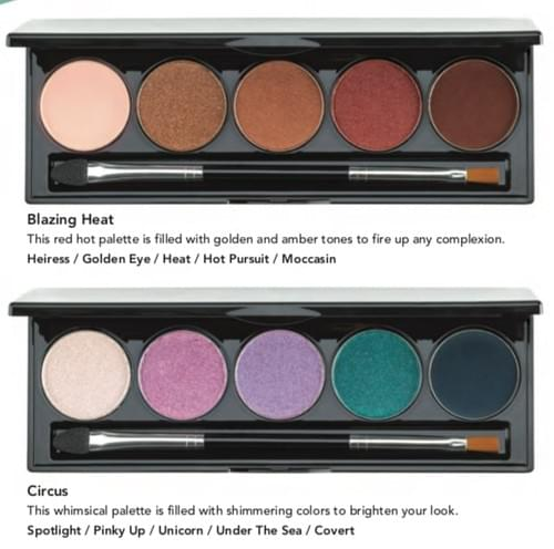 Five Pan Eye Pallettes